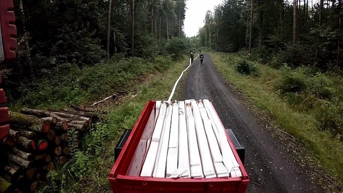 Przyczepka wężowa do pożarów lasów